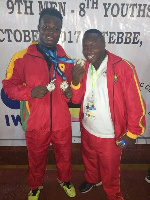 Christian Amoah and Richmond Osarfo excelled at the Africa Weightlifting championship
