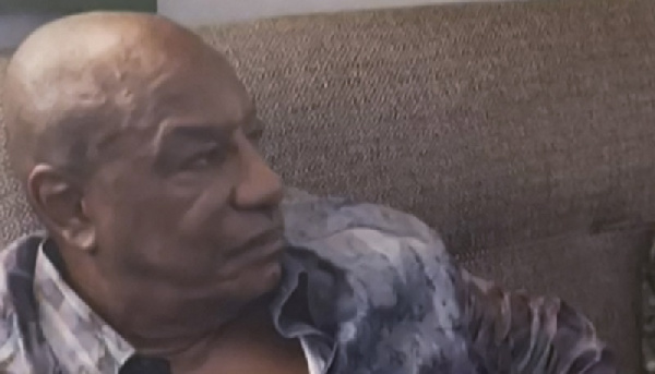A screenshot of ousted Guinean president Alpha Conde on September 5