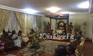 Okyenhene Visits Asantehene