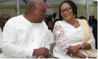 Lordina Mahama and hubby, President John Mahama
