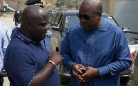 Former president John Mahama with former Chief of Staff, Julius Debrah