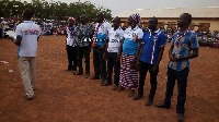 Some members of the Mamprugu Network during the launch of operation 100% votes