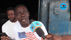 Mr Alex Aboagye had his warehouse gutted by fire on Sunday morning