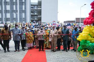 President Akufo-Addo opening UESD in Somanya
