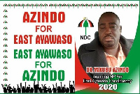 A campaign poster of Dr. Yakubu Mohammed Azindoo