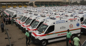 307 new ambulances were commissioned by government last week