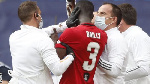 Eric Bailly had treatment on a cut to his head before he was taken off on a stretcher
