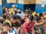 Suspected criminals in police custody