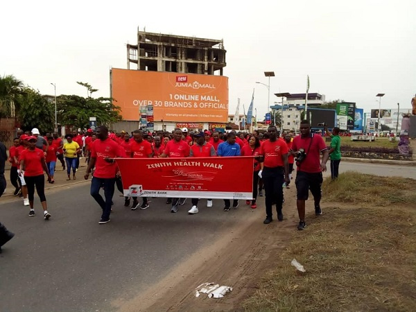 The walk was in celebration of the bank's 14th anniversary