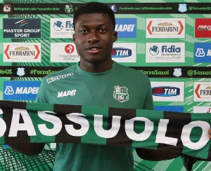 Sassuolo star midfielder Alfred Duncan