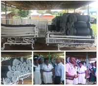 The items donated to Atibie Hospital included mattresses
