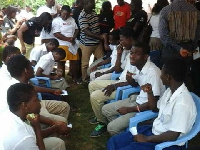 First year students enrolled under the Free SHS policy have started undergoing medical examinations