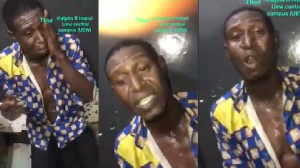 The alleged thief is said to  be a former Member of the Winneba Youth Choir and the Akoo Show Choir