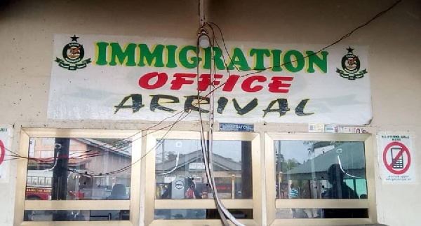 The Ghana Immigration Service at the Elubo border