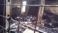 The fire raged the office of the regional director and her secretary