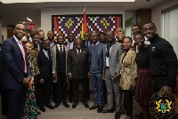 President Akufo-Addo with some students of Harvard Institute of Politics