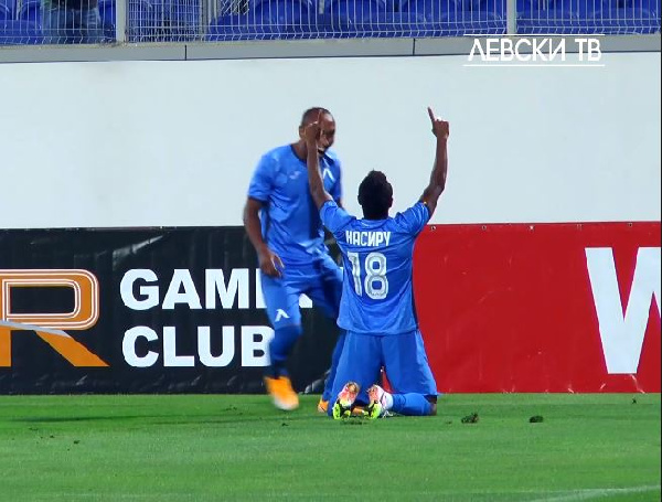 Nasiru Mohammed scores his first league goal of the season