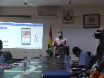 Mr George Sarpong, Executive Secretary of NMC addressing the press in Accra