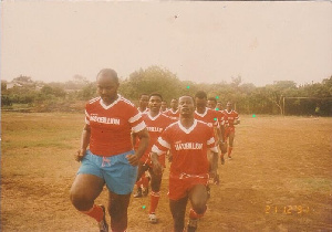 Ben Ephson was Captain of the Media XI football team
