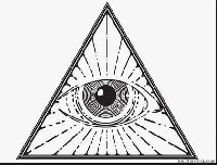 Symbol of the famous and mysterious Illuminati group