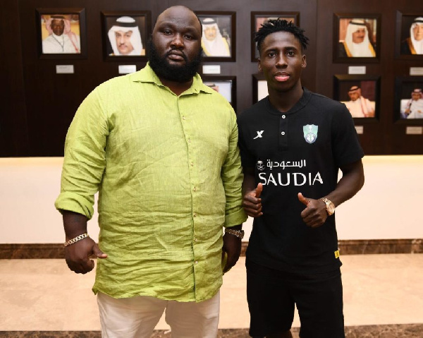 Ghana winger Samuel Owusu arrives at new club Al-Ahli Jeddah