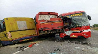 The buses involved in the accident