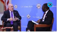 US Ambassador to Ghana, Robert Jackson on the 'hot seat' with Kyenkyenhene Boateng