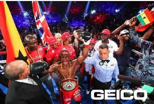 Super bantamweight champion, Isaac Dogbe