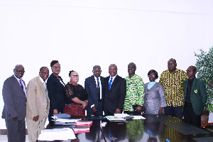 The Board Members in a group photograph