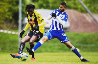 Striker Kwame Kizito lasted the entire duration for BK Hacken in their 3-0 defeat