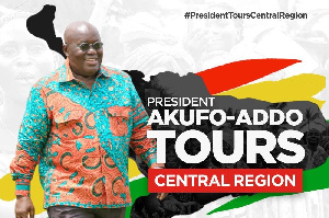 President Akufo-Addo is on a tour of the Central Region