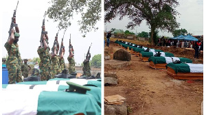 How Nigerian Army bury Captain, 11 soldiers wey bandits kill for Benue state