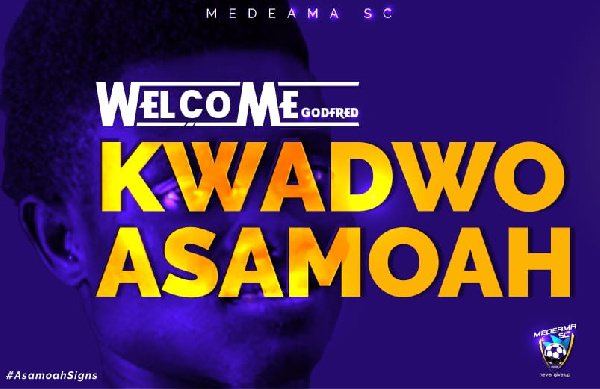 Kwadwo Asamoah will play a significant role in our project this season - Medeama coach Samuel Boadu