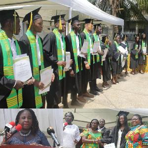 Some graduating students of Morning Star International High School