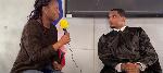 Nathalie Wakam speaks to former Cameroonian international Samuel Eto'o