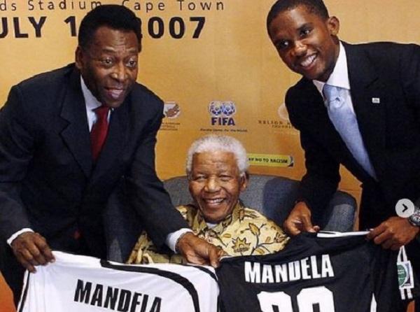 Samuel Eto'o and Pele with Pele