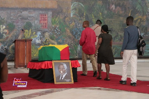 The body of the late diplomat, Kofi Annan laid in state at the Accra International Conference Centre