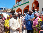 Professor Jane Naana Opoku-Agyemang donated assorted food items to Muslims in the Central Region