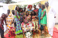 Kumawood stars graced the the traditional wedding of Benard Aduse-Poku