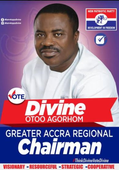 Divine  Otoo Agorhom, aspiring candidate for Greater Accra Regional Chairman