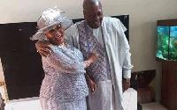 Former President John Mahama and wife, Lordina Mahama