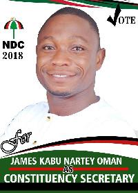 James Kabu Nartey-Oman, Bortianor Ngleshie Amanfro General Secreatry hopeful