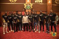 The Black Stars bid farewell to President Akufo-Addo on Friday
