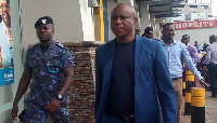 Officials at the premises of the Accra Mall to shut down the facility over tax owed the state
