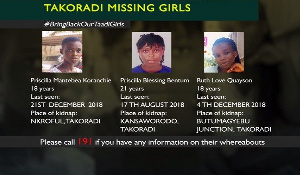 These three ladies are still missing and being searched for by the police
