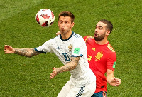 Spain take on host Russia in the knockout stage of the World Cup