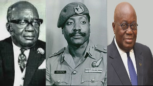 The late Edward Akufo-Addo, Lt. Gen. Fred Akuffo, and Nana Addo Dankwa Akufo-Addo