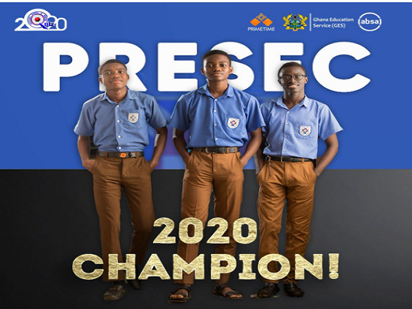 PRESEC Old Students walk with NSMQ winners
