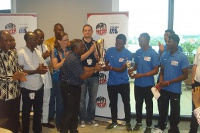 RTD presents trophy to Tullow Director - Mr Charles Darku
