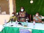 Dr. Akosua Agyeiwaa Owusu-Sarpong launching the Yellow Fever Vaccination Campaign